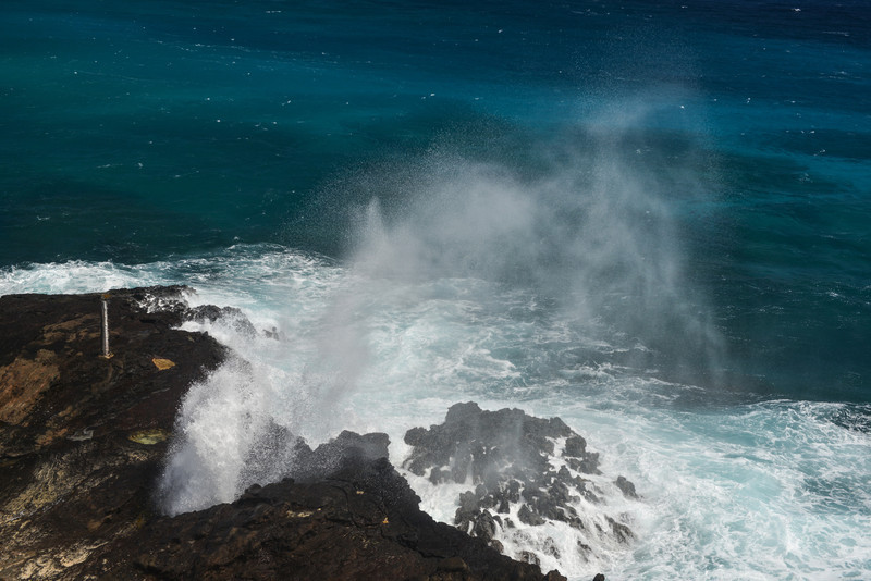 Halona Blow Hole Beach on Oahu, Hawaii