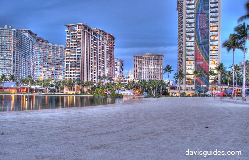 Hilton Hawaiian Village at twilight