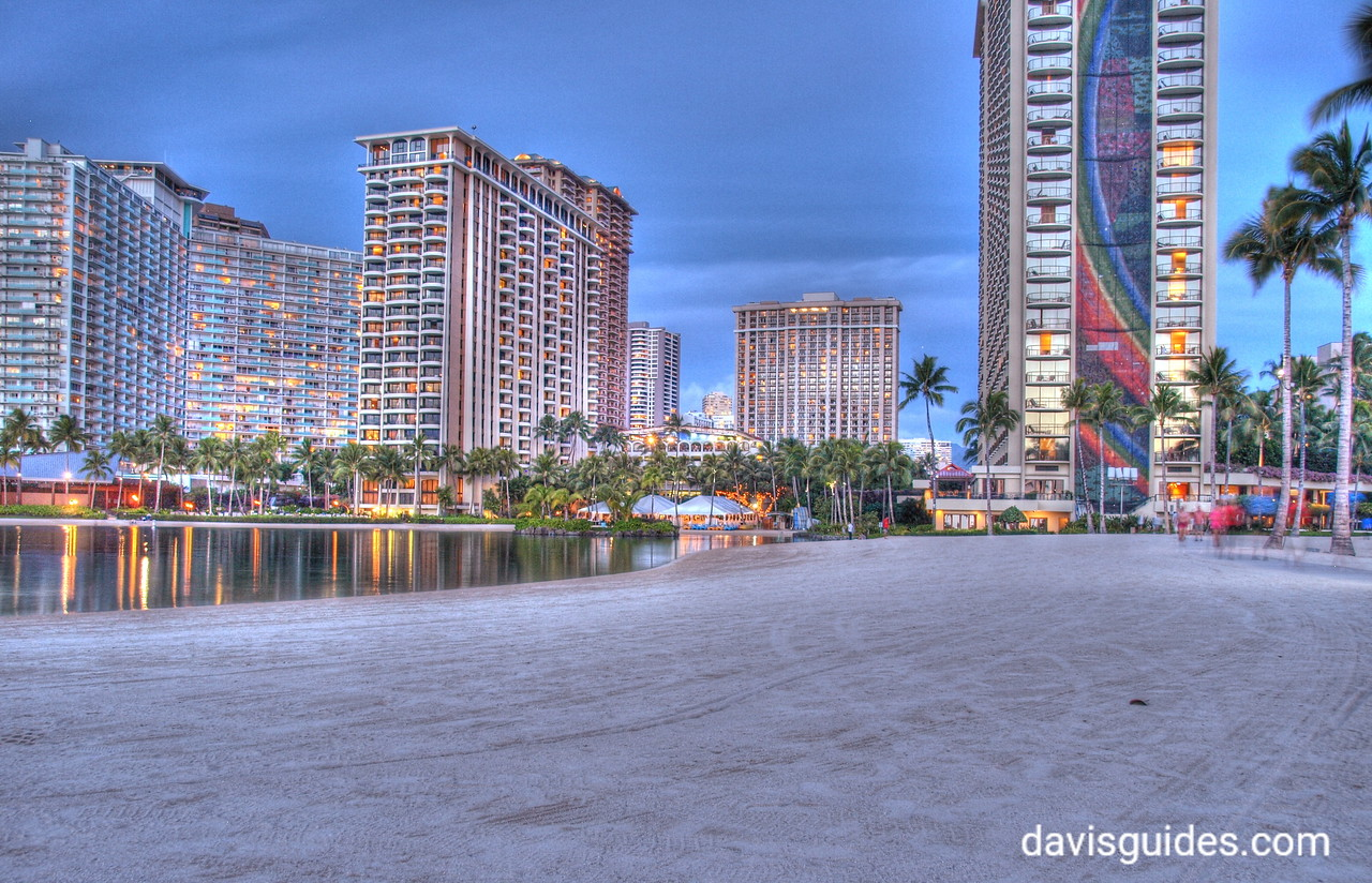 Hilton Hawaiian Village at twilight