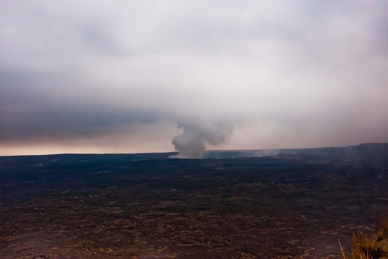 Halema'uma'u Crater in the distance