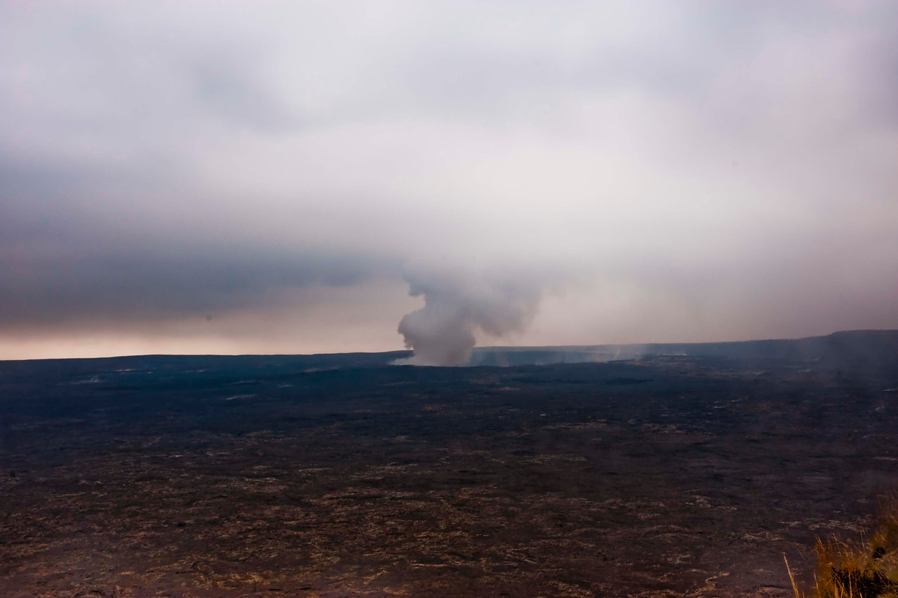 Halema'uma'u Crater in the distance
