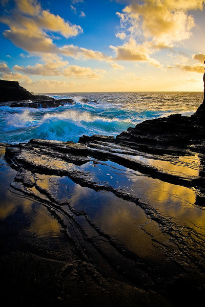 """Rock Waves #1"" - Oahu, Hawaii"