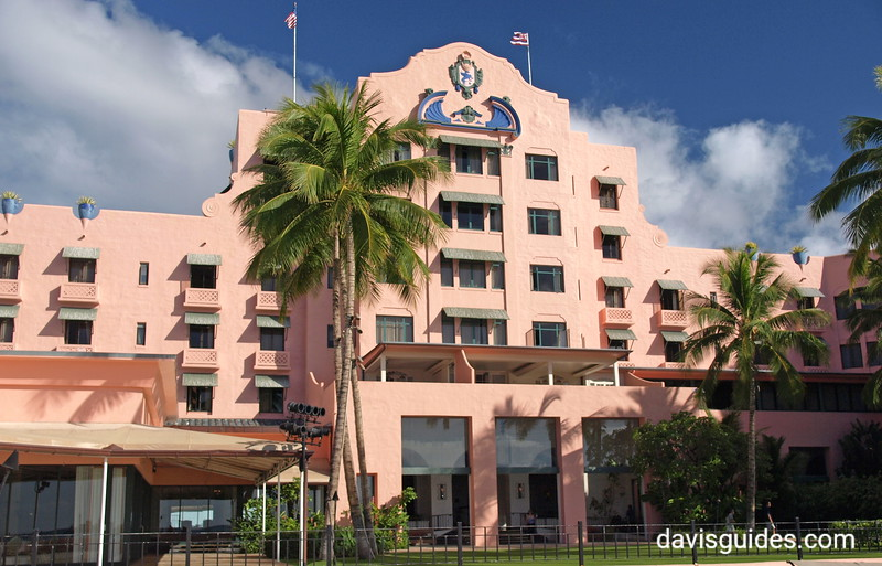 Historic Royal Hawaiian Hotel, Waikiki Beach