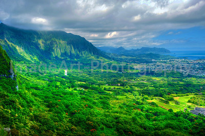 The island of Oahu, Hawaii