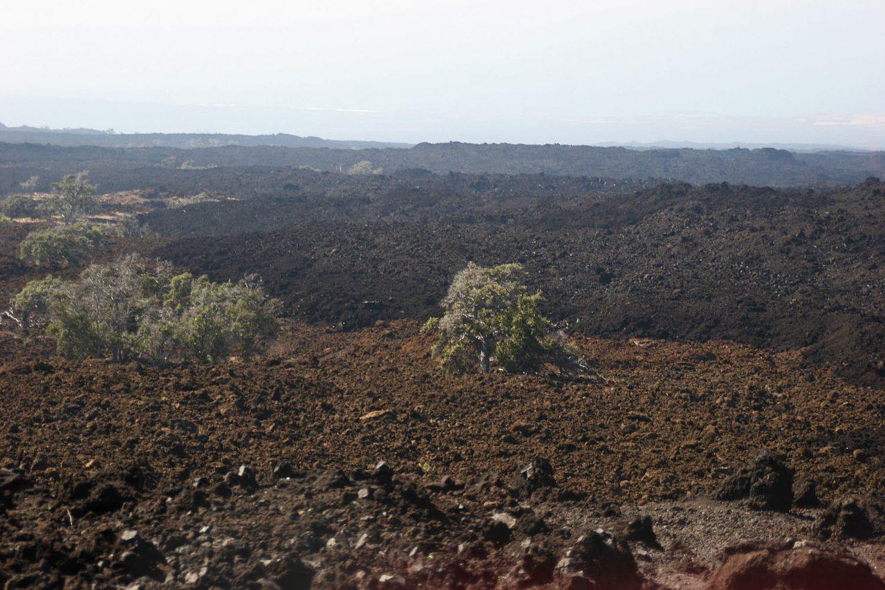 Old & Recent Lava Flows