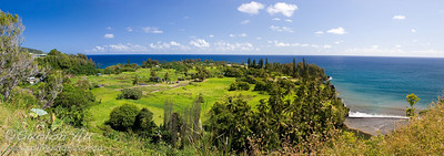Scenic lookout to Keanae Peninsula along Hana Highway.