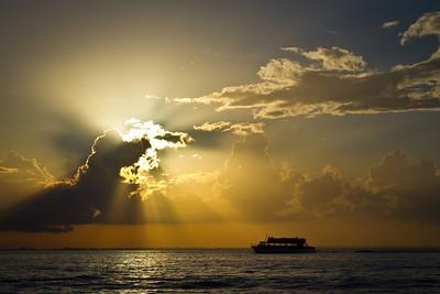 God Holds the light - Belize Bay