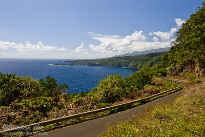 View of the Keanae Peninsula along the road to Hana, Maui