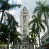 "<span id=""title"">Aloha Tower</span> <em>Honolulu, Oahu</em> This was apparently the tallest structure in Hawaii at one point, and it was a landmark for cruise ships. Not so much a landmark for airplanes, which is how we got here :) To the right of the tower is presumably a staging point for cruise ship passengers - it looks like a giant warehouse. To the left is shopping of all kinds."