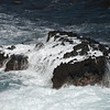 "<span id=""title"">White Water</span> <em>Onomea Bay, Hawaii</em> A cool rock in Onomea Bay that looked even cooler when waves crashed over it. The bay is along Old Mamalahoa Highway, North of Hilo."