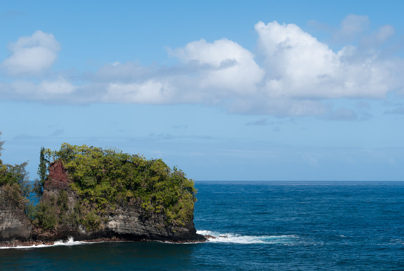 """<span id=""""title"""">Outcropping</span> <em>Onomea Bay, Hawaii</em> Cool piece of land in the Onomea Bay. This was the first stop along the Old Mamalahoa Highway that parallels the modern freeway, HI-19, for a few miles North of Hilo. If you're not pressed for time, you should definitely take this scenic route."""