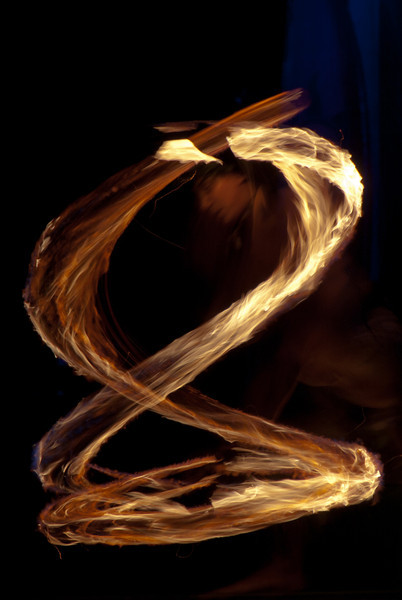 """<span id=""""title"""">Fire Dancer</span> <em>Paradise Cove Luau, Oahu</em> Another shot of a fire dancer that made a particularly awesome pattern."""