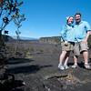 "<span id=""title"">Kilauea Iki Crater</span> <em>Hawaii Volcanoes National Park</em> My wife and I before we hiked through the Kilauea Iki crater, which was a molten lava lake just 50 years ago. My wife is wearing a lily in her hair, and I'm wearing a bow tie - that's because we were celebrating our anniversary, and those are two items from our wedding outfits."