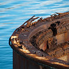 "<span id=""title"">Rusty Turret</span> <em>USS Arizona Memorial, Pearl Harbor, Oahu</em> The most prominent part of the ship that sits above the water. The memorial straddles the ship in the center, and there are buoys to mark the bow and stern - it is big."