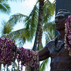 "<span id=""title"">Lots of Leis</span> <em>Waikiki, Oahu</em> You can tell that Duke is still a popular guy. I was unfamiliar with him before we saw this statue, but he seems pretty awesome. Search for him - Duke Kahanamoku."
