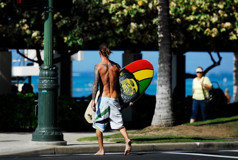 Surfer, Waikiki, Hawaii