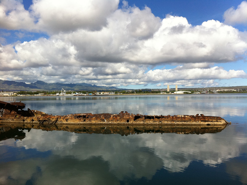 """<span id=""""date"""">_11/21/10_</span> <span id=""""title"""">USS Utah</span> <em>Hawaii Day 2</em> This is part of the USS Utah, one of the 3 ships sunk on 12/7/41 that was not put back into service. On the other side of Ford Island lies the USS Arizona. We also visited some places on Hickam AFB - it's nice to be staying with military folks :) In the evening we went a luau at Paradise Cove. Such fun! This place is so beautiful!  <a href=""""http://www.jawsnap.net/Travel/Hawaii2010/14883306_hHp9Z"""">More Hawaii Photos!</a>  <a href=""""http://www.jawsnap.net/Daily/year2/7157835_BfJPF#720254934_6QWge"""">[last year]</a>"""