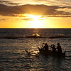 "<span id=""title"">Sunset Paddle</span> <em>Paradise Cove Luau, Oahu</em> After spear throwing, we moved onto a little canoe ride in the cove. It was beautiful, but kind of cheesy."