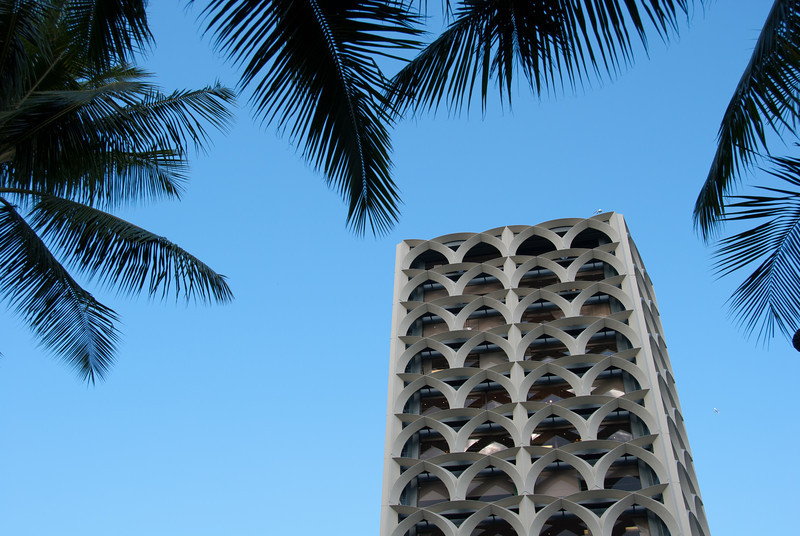 """<span id=""""title"""">Waikiki Architecture 3</span> <em>Waikiki, Oahu</em> Yet another cool high-rise building with ocean views."""