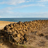 "<span id=""title"">South Point Panorama</span> <em>South Point, Hawaii</em> This ancient-looking rock wall went pretty much all the way to the ocean."