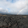 "<span id=""title"">Lava Rainbow</span> <em>Hawaii Volcanoes National Park</em> Another superb rainbow at the end of Chain of Craters road. One of my favorite parts of the trip was climbing around on this fresh lava flow."