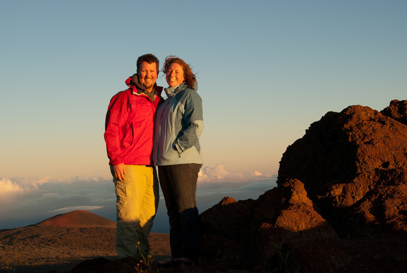 """<span id=""""title"""">Top of the World</span> <em>Mauna Kea, Hawaii</em> With clouds swirling around the base of Mauna Kea, you really do feel like you're above it all. Also, it was COLD! The visitors center is about 9300 ft (2835 m) in elevation - a drastically different climate than the coast :)"""
