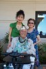 Rosa and her mother stop to talk with one of the solders who were on duty Dec 7, 1941 during the attack on Pearl Harbor.