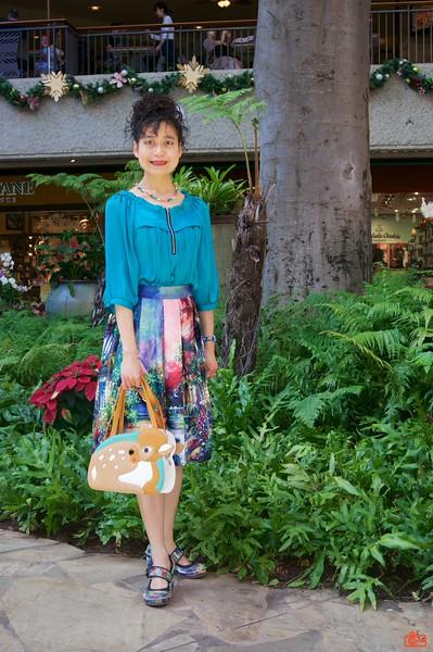 Rosa at the Royal Hawaiian Center shopping mall.
