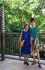Rosa and her mother at the Royal Hawaiian Center shopping mall.