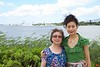 Rosa and her mother with Pearl Harbor in the background.