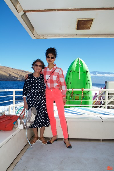 We went whale watching off the island of Maui.