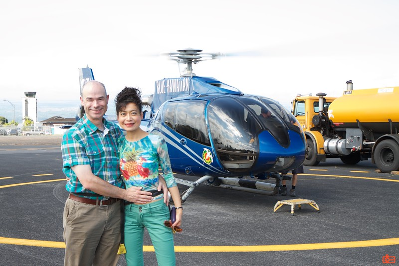 The Blue Hawaiian helicopter that took us over the Kīlauea volcano.