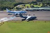 "With President Obama and the first family spending the Christmas holiday in Hawaii, the infrastructure follows him and bases in the islands. Here is the Air Force E-4B nuclear command plane (""Advanced Airborne Command Post"") and a C-17 cargo plane parked at the airport Hilo."