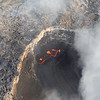 lava on Kilauea from helicopter