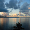 Sunset clouds, Hilo Bay