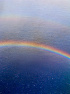 Rainbow  Flying from Honolulu to Hilo