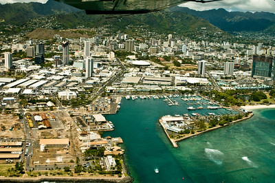 aerial photo, Boat Harbor, Honolulu