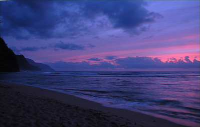The ever-romantic Na Pali  Coastline after sunset