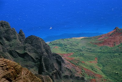 Sailing Off the Coast of Waimea Canyon