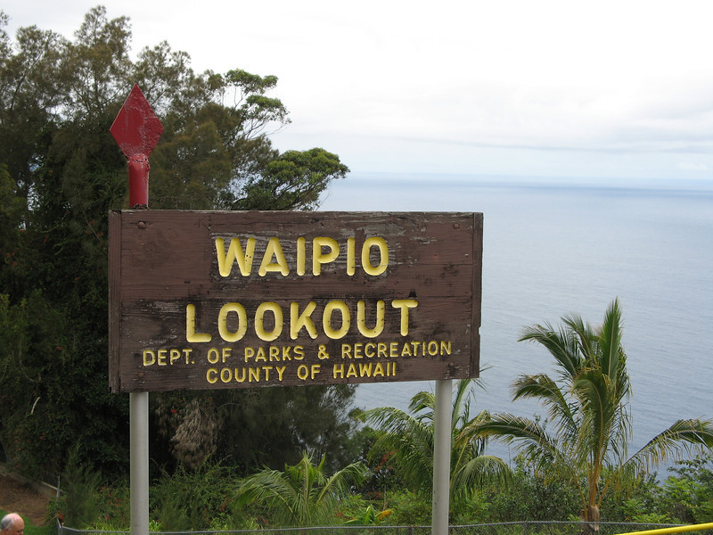 Making our way along the coast, we came to the lookout to Waipio Valley.