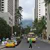 And just beyond the buildings, you see a glimpse of the wilder side of Oahu