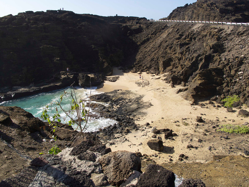 "Deborah Kerr and Burt Lancaster filmed their famous beach scene at Halona Cove, which is a stone's throw from the <a href=""http://www.discoverhawaiitours.com/travel-guide/halona-blowhole.html"">Halona Blow Hole</a>."
