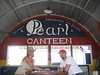 Cindy & Pat playing checkers in the Pearl Canteen on Pearl Harbor