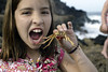 Courtney's eating crab for lunch - Makaha