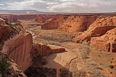 Canyon de Chelly - notice the dust devil in the distance