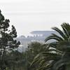 Very hazy day.  The cove at San Simeon.