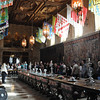 Huge (and only) dinning hall.  But rarely more than 10 people were at the castle to eat here.