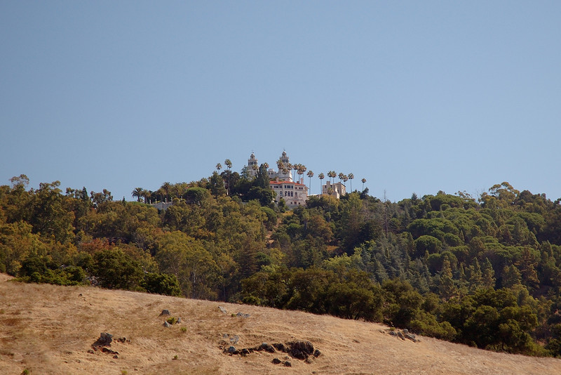 Driving up to Hearst Castle.