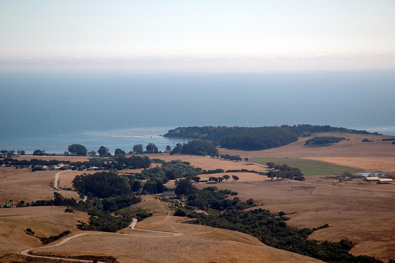 The William Randolph Hearst Memorial State Beach, as seen from Hearst Castle.