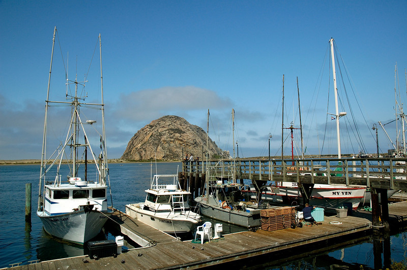 Morro Bay harbor.